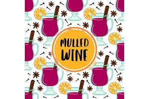 Cute Mulled Wine frame banner