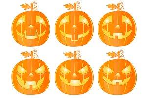 Halloween pumkins Set 1