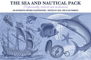 Vintage Nautical Vector Set