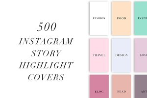 500 Instagram Story Covers