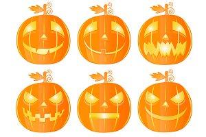 Halloween pumkins Set 2
