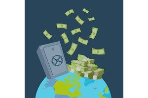Global Wealth Vector Illustration