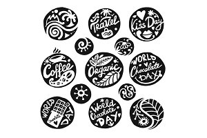Circle icons set, sketch for your