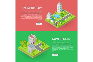 Isometric City Buildings Vector Web
