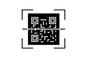 QR code scanner glyph icon