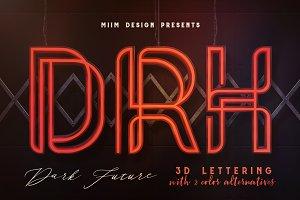 Dark Future - 3D Lettering