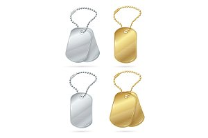 Tags or Medallions Set. Vector