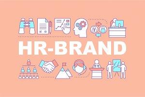 HR brand word concepts banner