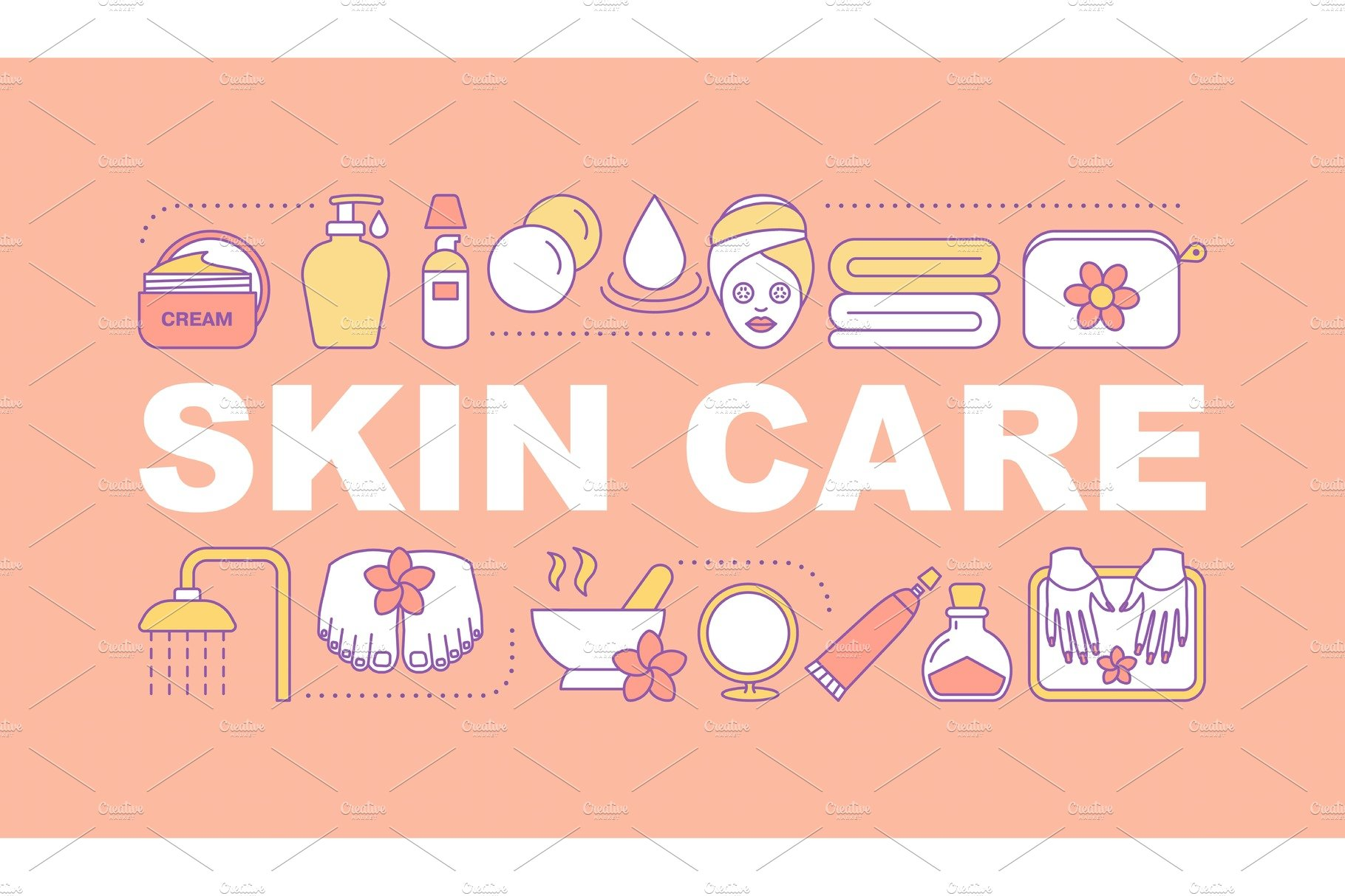 Skin Care Word Concepts Banner Creative Product Mockups Creative Market