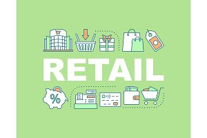 Retail word concepts banner