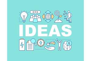 Ideas generation concepts banner