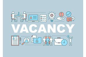 Vacancy word concepts banner