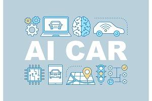 AI car word concepts banner