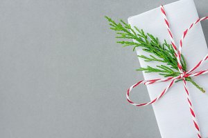 White Christmas New Year gift box