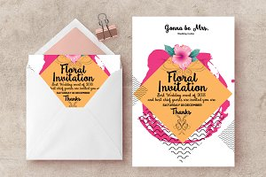 Floral Wedding Cards Invitations