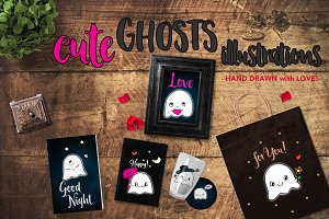 Cute Ghosts Illustrations