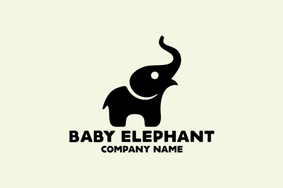 9e27c2fd6cb7a Baby Elephant Logo ~ Logo Templates ~ Creative Market