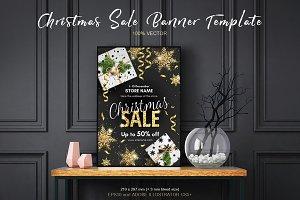 Christmas Sale Banner Template