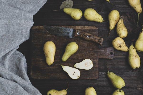 Food Stock Photos - ripe green pears