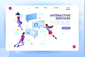 Chat Concept Web Page Template