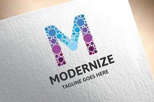 Letter M - Modernize Logo