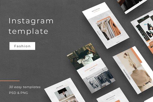 Instagram Templates: Digital Breath templates - Outfit - Social media template