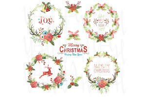 Christmas Watercolor Wreaths