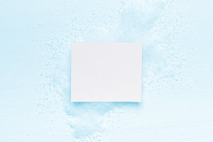 White card for on snow