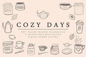 COZY DAYS - HandSketched Set