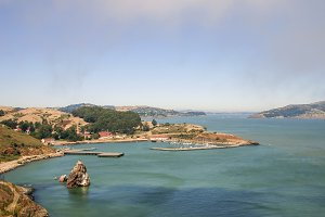 Sausalito bay area with harbour