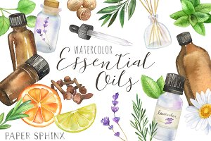 Essential Oils Clipart Pack