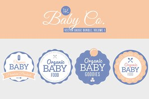 Baby Co. Vector Badge Bundle, Vol 1