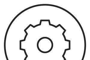 Setting stroke icon, logo