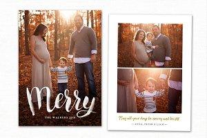 Christmas Card Template CC172