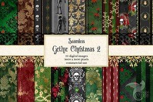 Gothic Christmas Digital Paper 2
