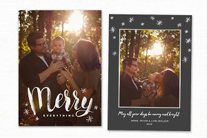 Christmas Card Template CC173