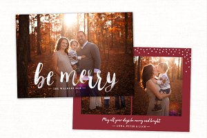 Christmas Card Template CC174