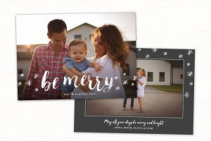 Christmas Card Template CC175