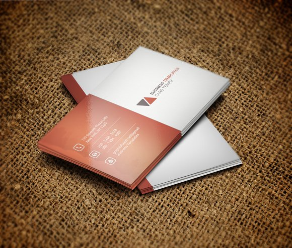 Corporate Business Card Template - Business Cards