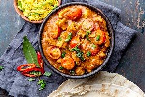 INDIAN FOOD. ROGAN JOSH curry sauce