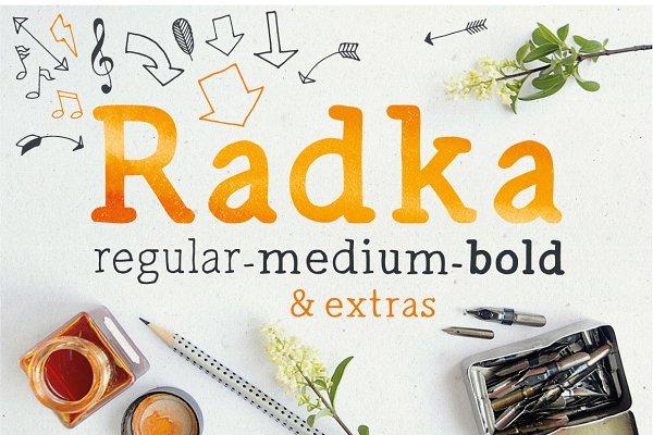 Radka: handmade font family + extra…