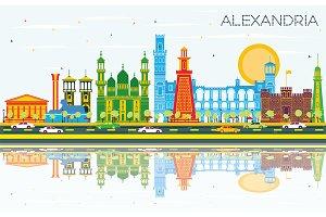 Alexandria Egypt City Skyline