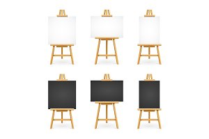 White and Black Blank Easel Template