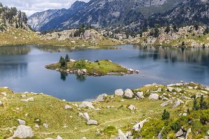 Beautiful  Lake in the Pyrenees