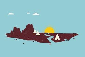 Minimalism Indian Tepee Village