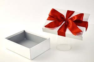 box and big red bow