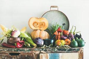 Fall vegetarian food ingredients