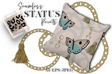 Status Seamless Patterns