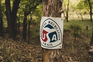 National Recreation Trail Sign
