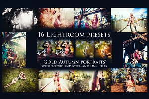 "16 Presets ""Gold Autumn Portraits"""